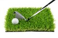Golf ball and club Royalty Free Stock Photo