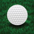 Golf ball colorful illustration with on a green grass background Stock Image
