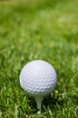 Golf ball with copy space Stock Images