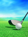 Golf ball on course Royalty Free Stock Photo