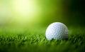 Golf ball on fairway Royalty Free Stock Photo