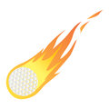 Golf Ball in Fire Royalty Free Stock Photo