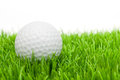 Golf Ball in Grass Stock Images