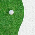 Golf ball on the grass for web background white green Stock Photos
