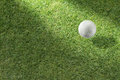 Golf ball on green Stock Image