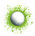 Golf Ball on Green Background Stock Photography
