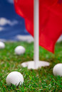 Golf ball and hole! Royalty Free Stock Photo