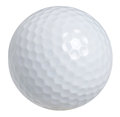 Golf ball isolated on white with clipping path Royalty Free Stock Photo