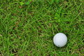 Golf ball o the green grass Royalty Free Stock Photos