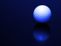 Golf Ball with Reflection Royalty Free Stock Photo