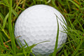 Golf ball in the rough close up of a Royalty Free Stock Photos