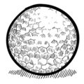 Golf ball sketch Royalty Free Stock Photo