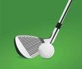 Golf ball and stick vector