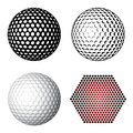 Golf ball symbols Stock Images