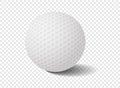 golf ball on transparency grid - Vector Illustration