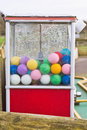 Golf balls colorful in a plastic dispenser Royalty Free Stock Photography