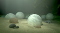 Golf Balls In Water Hazard Royalty Free Stock Photo