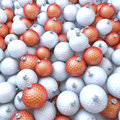 Golf balls xmas balls baubles pool of d rendering Stock Image