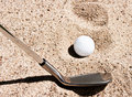 Golf bunker Stock Photos