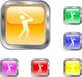 Golf Button Royalty Free Stock Photography