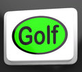 Golf button means golfer club or golfing meaning Royalty Free Stock Photos