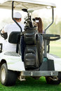 Golf cart with beg Royalty Free Stock Image