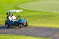 Golf cart or club car at golf course Stock Photography