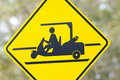 Golf cart crossing Royalty Free Stock Photography