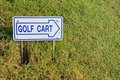 Golf cart direction sign Royalty Free Stock Photography