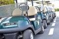 Golf carts Royalty Free Stock Photo
