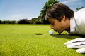 Picture : Golf club ball course driver