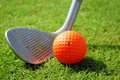 Golf-club and golf ball Royalty Free Stock Images
