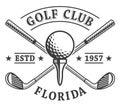 Golf clubs emblem Royalty Free Stock Photo