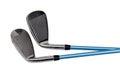 Golf clubs on white Royalty Free Stock Photo