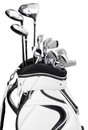 Golf Clubs In White And Black ...