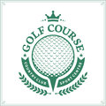 Golf country club logo template Royalty Free Stock Photo