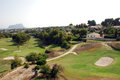 Golf course on the Costa Blanca Royalty Free Stock Image