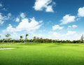 Golf course in dominican republic Royalty Free Stock Images