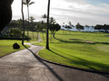 Golf course in Hawaii Royalty Free Stock Photo