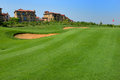 Golf course luxury side Stock Images