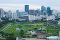 Golf Course in the Middle of Bangkok, Thailand Royalty Free Stock Photo