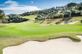 Golf course in mijas malaga spain Royalty Free Stock Photos