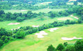 Golf course in the summer Royalty Free Stock Photos