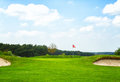 Golf course summer day in germany Royalty Free Stock Photography