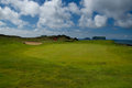 Golf course in town heimaey westman islands iceland Stock Images