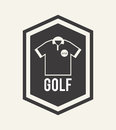 Golf design over white background vector illustration Stock Photos