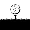 Golf design over white background vector illustration Royalty Free Stock Photography
