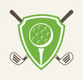 Golf design over white background vector illustration Royalty Free Stock Photos