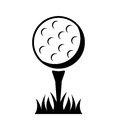Golf design over white background vector illustration Royalty Free Stock Images