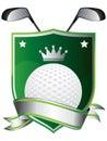 Golf emblem Stock Photo